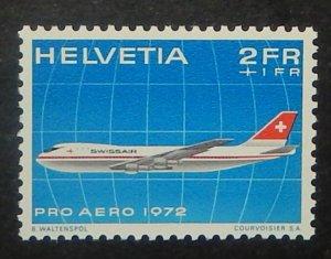 Switzerland CB1. 1972 Flight Anniversaries, NH