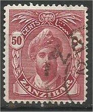 ZANZIBAR, 1936, used 50c, without Serifs Harub Scott 208