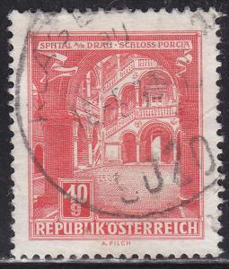 Austria 689 Hinged 1962 Porcia Castle, Spittal on the Drau