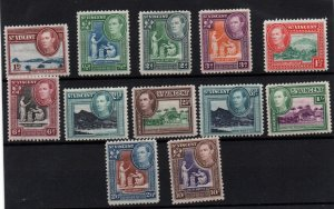 St Vincent KGVI 1938 part LHM set to 10/- (12V) SG149-158 WS22227