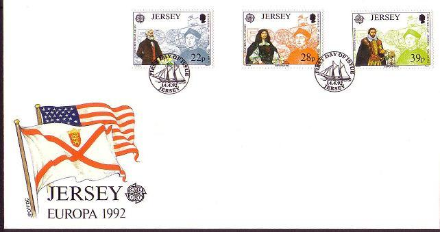 Jersey Discovery of America FDC SG#584-586