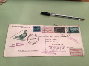 Ray's Specialties 1956 Express special delive large airmail  stamps cover  50403