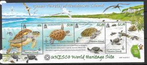 PITCAIRN ISLANDS SGMS775 2008 GREEN TURTLES MNH