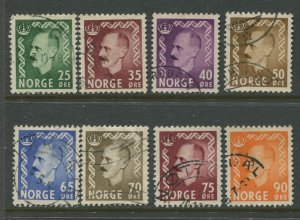 STAMP STATION PERTH Norway #345-352 Definitive Issue 1955 FU