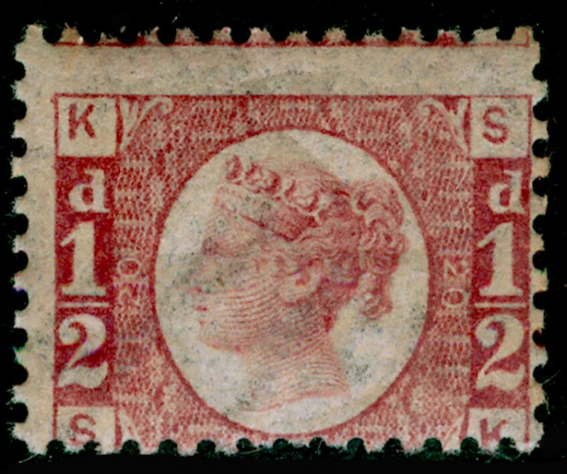 SG48, ½d rose-red plate 20, NH MINT. Cat £350. SK