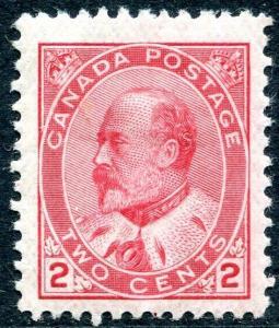 CANADA-1903-12 2c Pale Rose-Carmine Sg 177 MOUNTED MINT V27149