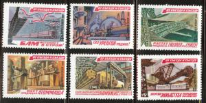 Russia Scott 4908-4913 MNH** 1981 Five year plan project set