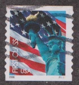 US #3970 Liberty and Flag Used PNC Single  #P1111