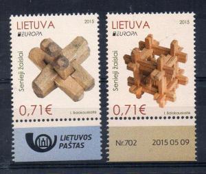 LITHUANIA - 2015 - EUROPA - OLD TOYS -
