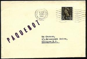 GB SCOTLAND 1968 cover Ardrossan large PAQUEBOT - scarce...............22519