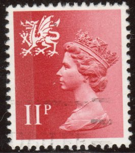 Great Britain Wales WMMH15 SG W31, 11P Red/scarlet 1976