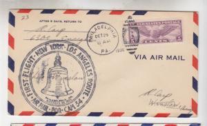 UNITED STATES, 1930 5c. C 12, New York-Los Angeles ffc.