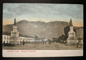 1909 Colon Avenue Bogota Columbia to London England Real Picture Postcard Cover