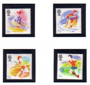 Great Britain Sc 1209-12 1988 Sports stamp set mint NH