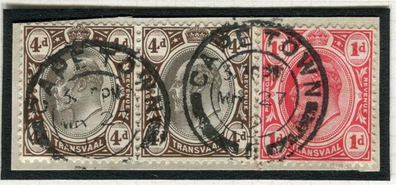 TRANSVAAL Interprovincial Period Ed VII CAPE TOWN Postmark on 4d. Piece