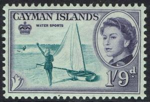 CAYMAN ISLANDS 1962 QEII WATER SPORTS 1/9 MNH **