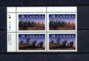 CANADA 1989 CANADIAN INFANTRY REGIMENTS - SCARCE ULPB - SCOTT 1250ii - MNH