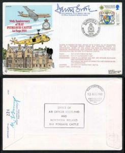 AC31c 50th Ann of RAF Pitreavie Castle Signed by AVM D.C.G. Brook