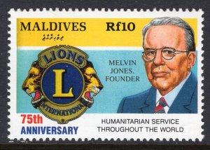 Maldive Islands 1811 Lions Club MNH VF
