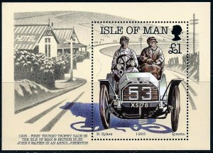 Isle of Man 1995 ,Race Cars MNH S/Sheet # 649