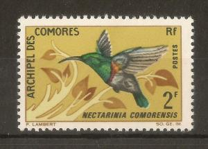 Comoros 1967 2fr Humming Bird SG60 MNH