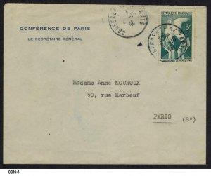 France 1946 Conference de Paris Cover to Paris