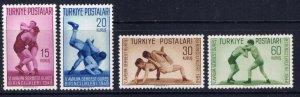Turkey 986-89 MNH 1949 Wrestling