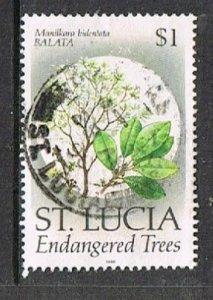 St. LUCIA 190935- 1990 $1 Trees used