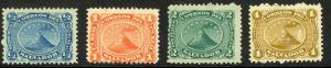 EL SALVADOR 1867 Complete First Issue SAN MIGUEL VOLCANO Set Sc 1-4 MH