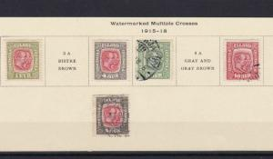 ICELAND 1915 -18 MOUNTED MINT & USED  STAMPS  REF 5785