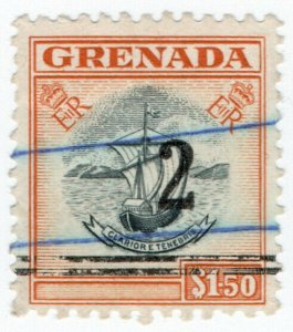 (I.B) Grenada Revenue : Duty Stamp 2c on $1.50