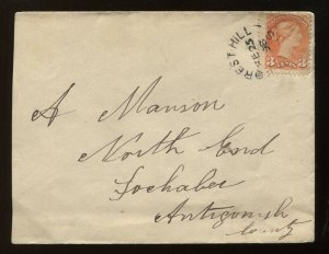 Canada 3 Cent Small Queen tied by 1898 Forest Hill NS CDS on cover to Antiginish