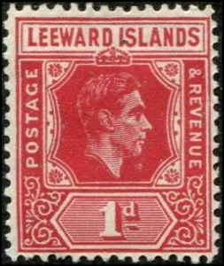Leeward Islands SC# 105a  SG# 99a George  VI 1d RED MH