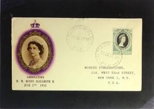 Fiji - 1953 Queen Elizabeth II Coronation FDC / Minkus Cache - Z2381