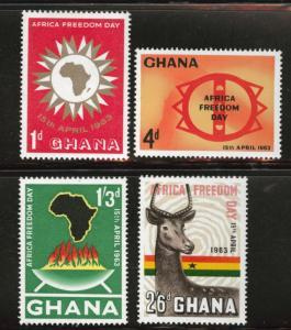 GHANA Scott 135-38 MH* 1963 Freedom Day set