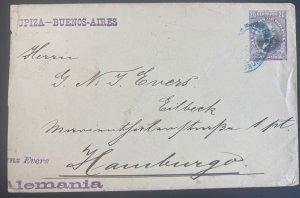 1903 Oruro Bolivia Postal Stationery Cover To Hamburg Germany Via Buenos Aires