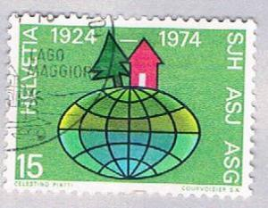 Switzerland 586 Used Pine and cabin 1974 (BP28624)