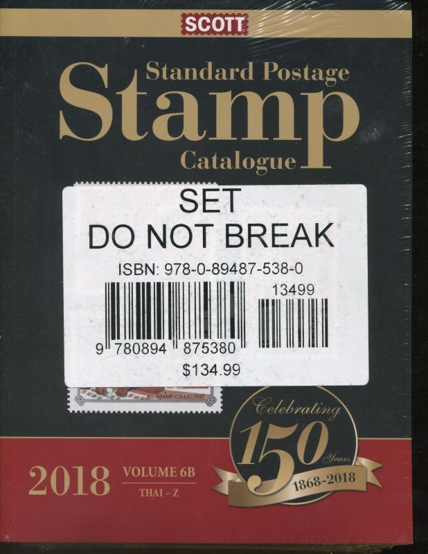 2018 Postage Stamp SCOTT CATALOGUE VOLUME 6 (A-B) (COUNTRIES SAN-Z)
