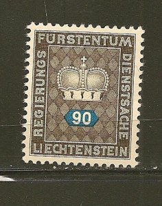Liechtenstein O45 Official MNG