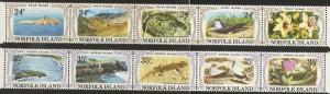 Norfolk Islands 288-9 1982 Views strips set NH