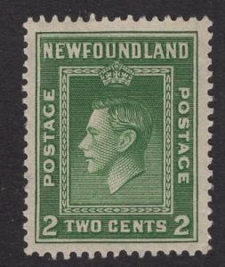 Newfoundland  #245  used 1938   2c  King George VI