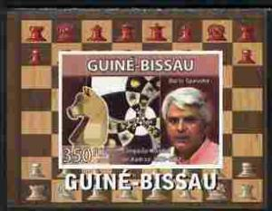 Guinea Bissau 2008 CHESS MASTER Boris Spassky Deluxe s/s Mint (NH) #4
