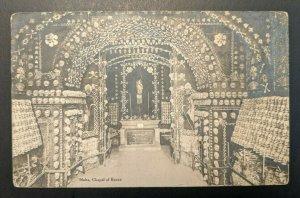 1921 Chapel of Bones Malta to Boston Massachusetts RPPC Cover