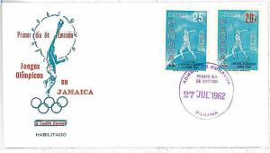 OLYMPIC GAMES - FDC COVER : PANAMA 1962 - OVERPRINTED STAMPS