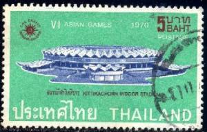6th Asian Games, Bangkok, 1970, Thailand stamp SC#556 used