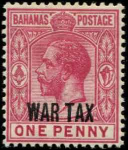 Bahamas SC# MR7 SG# 97 War Tax 1d MH