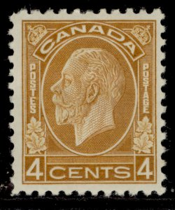 CANADA SG322, 4c yellow-brown, M MINT. Cat £50.