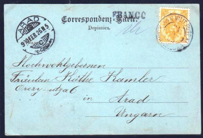AUSTRIA BOSNIA  1900. manuscript 1h + FRANCO CDS