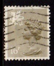 Wales - #WMMH28 Machin Queen Elizabeth II (perf 13 1/2 x 14) - Used