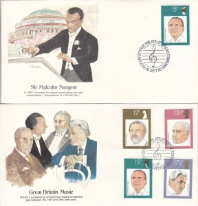 1980, Great Britain: Music, Grp 4, FDC (S18788)